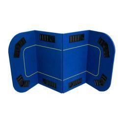 Tapete rectangular plegable 4 partes para 8 jugad. línea juego.