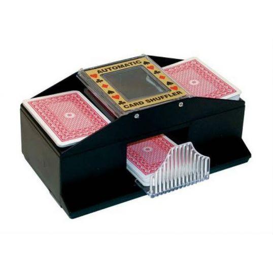 Barajador automático de cartas de plástico negro
