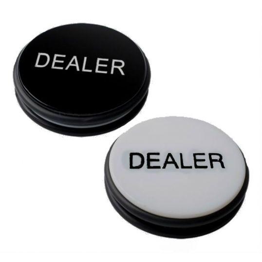 Botón de dealer gigante doble cara blanco o negro