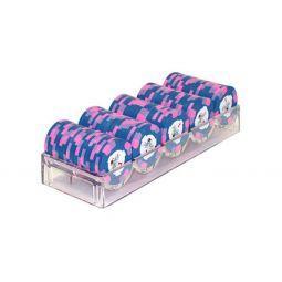 Rack de plástico para 100 fichas de poker clásicas
