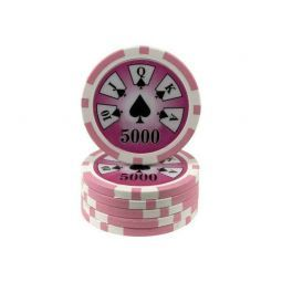 Recarregar rola 25 fichas láser ABS Royal Flush valor 5000