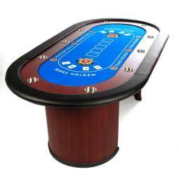 Mesa de poker Texas Holdem, de madera, 10 jugadores