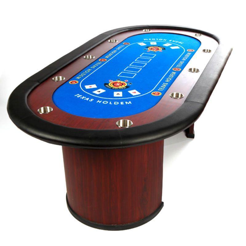 Mesa de poker profesional de madera para 10 jugadores
