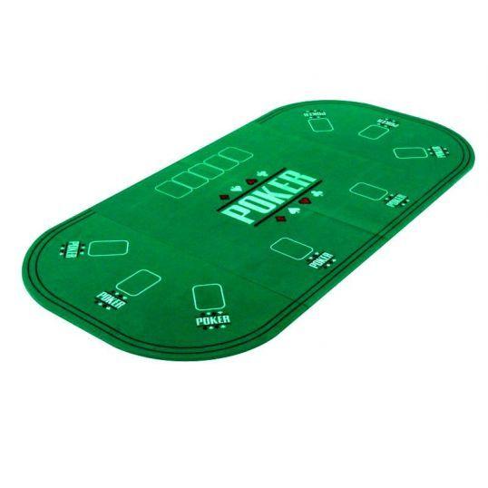 Tablero poker rectangular plegable en cuatro