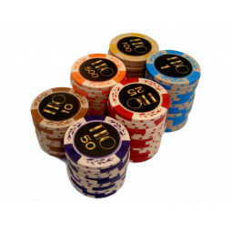 9 * Fichas de poker exclusivas Clay, 14gr