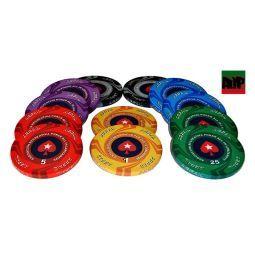 2* Personalizáveis fichas de cerâmicas de 10 gr.
