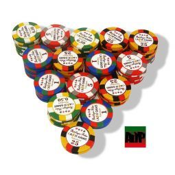 12* Fichas de poker Clay personalizables de 14 gr