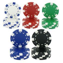 Maletin de 500 fichas de poker Dice de 11,5 gr
