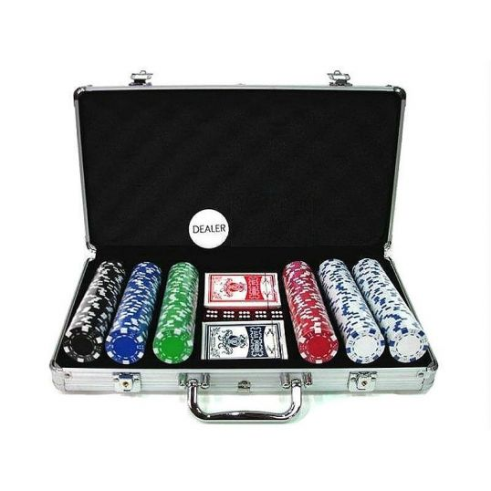 Malas de 300 fichas de poker Dice de 11,5 gr
