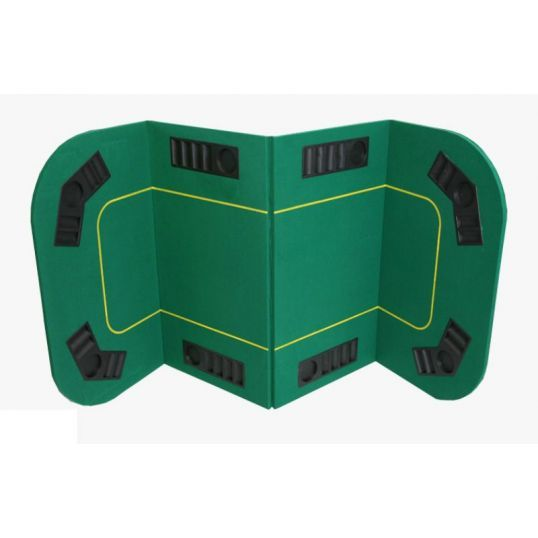 Tablero de poker rectangular plegable