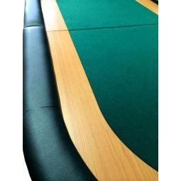 Sobremesa de poker dobrável em 2 partes para 8 jog., verde