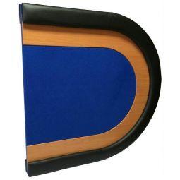 Sobremesa de poker plegable en 2 partes para 8  jug. azul