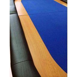 Sobremesa de poker dobrável em 2 partes para 8 jog., azul