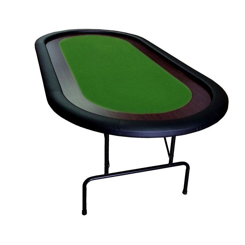 Mesa de Poker con patas plegables, verde, 10 jugadores