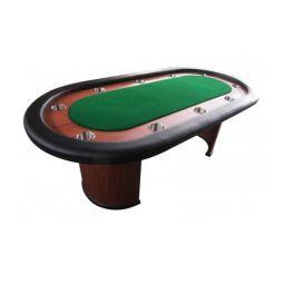 Mesa de poker fixa com porta-copos, tapete verde