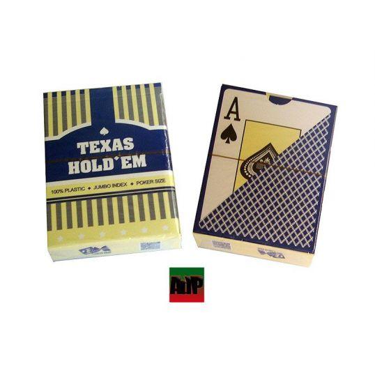 Baraja de plástico Texas Holdem, índice jumbo