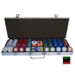 Maletín de poker de 500 fichas Monte CarloPoker Club
