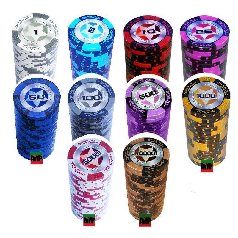 Caja acrílica 1000 fichas poker Las Vegas Vip de 13,5 gr de Fournier