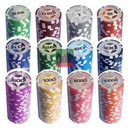 Maletínes personalizables de fichas ABS láser Casino