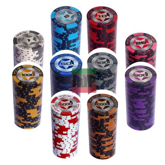 Recarregas de fichas de poker Clay Poker Club