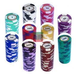 Maletín de poker de 500 fichas Clay tipo King´s Casino, torneo.