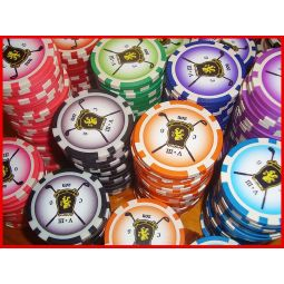 Fichas de poker customizáveis ​​ABS de 11,5 gr