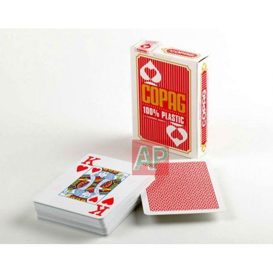 Baralhas de cartoes de poker en plástico Jumbo Face de Copag