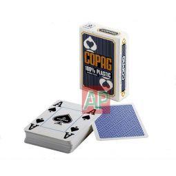 Barajas Copag de poker cuatro índices, 100 % plástico