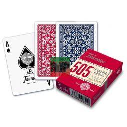 Baralha de Poker de Fournier Nº 505 em papelão plástica