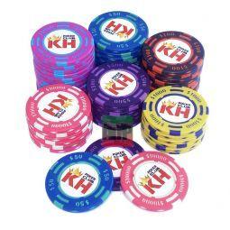 Fichas de poker personalizáveis Clay de 13,5 gr.