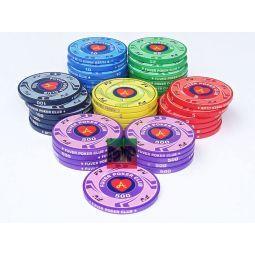 5* Fichas de cerâmicas personalizáveis de 10 gr.