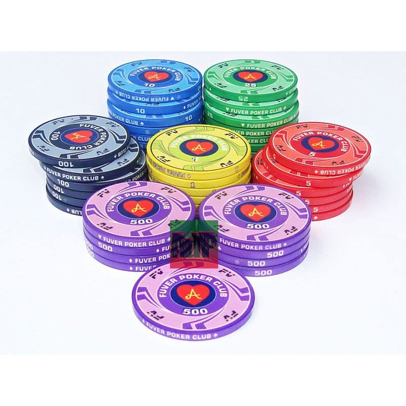 Fichas de cerámica personalizables de 10 gr