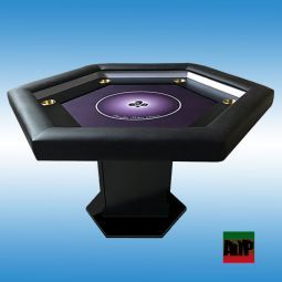 Mesa de poker personalizada con posavasos