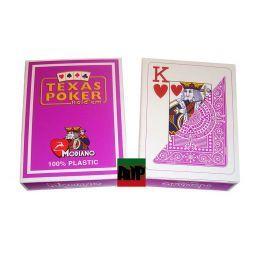 Baraja de plástico Modiano, Texas Poker, morada