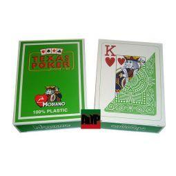 Baralhas Texas Poker de Modiano, verde claro