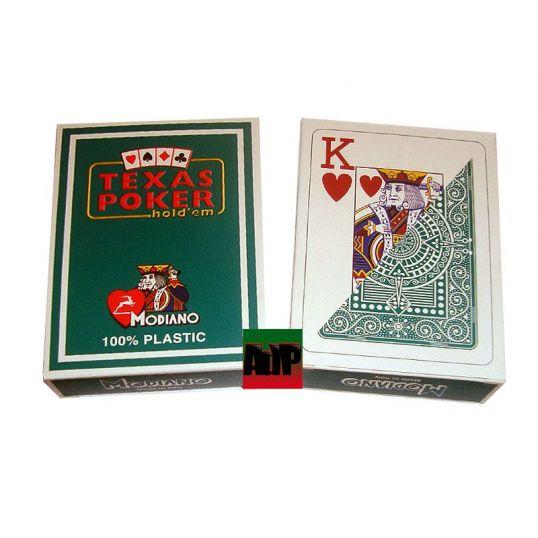 Baralhas Texas Poker de Modiano, verde
