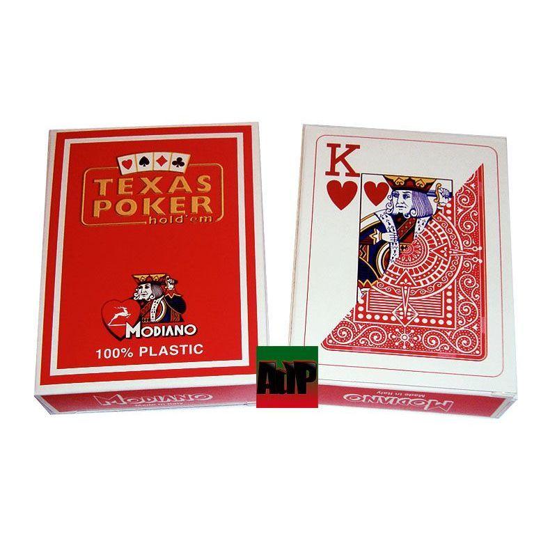 Baralhas Modiano de plástico Texas Poker, laranja