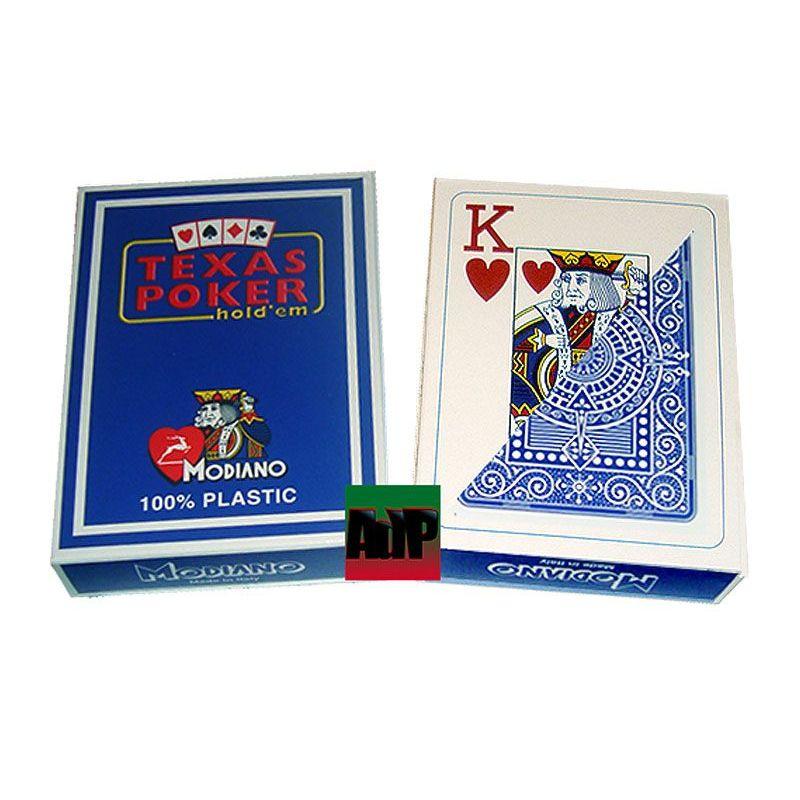 Barajas Modiano de plástico Texas Poker, azul
