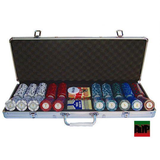 Maletín de poker de 500 fichas Monte Carlo Poker Club