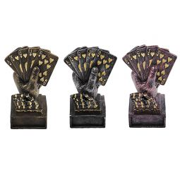 Troféus de poker royal flush