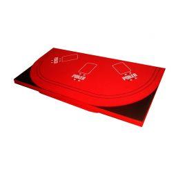 Tablero de poker plegado rojo