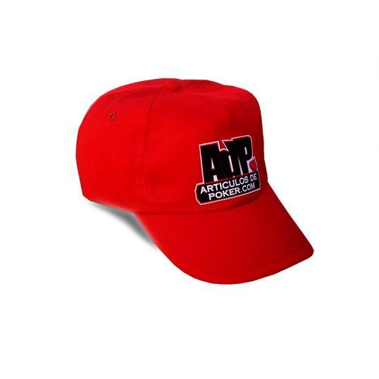 Gorra de poker ADP roja