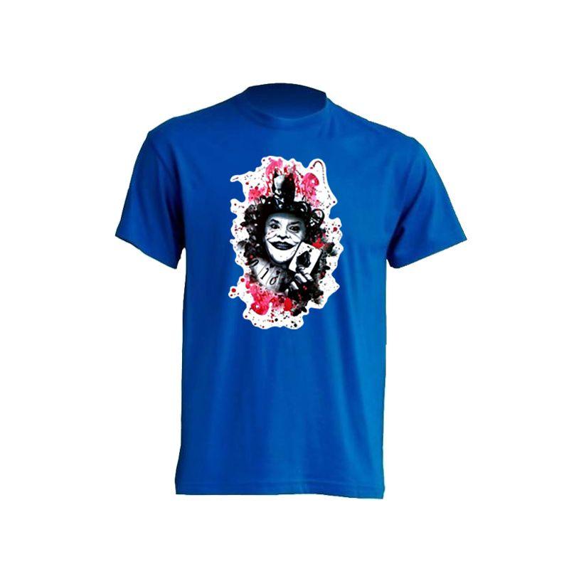 camiseta de poker com joker azul