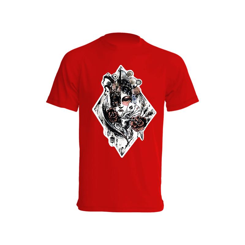 Camiseta de poker de ases roja