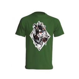 Camiseta de poker de ases verde