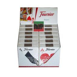 Cartas de poker Founier en 100 % plástico, índice jumbo, rojo