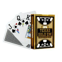 Baralhas Copag de plástico, mod Texas Holdem Gold
