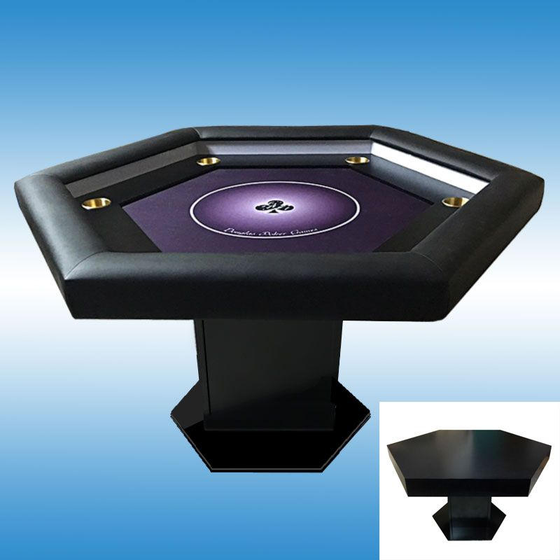 Mesa de poker personalizada con posavasos y tapa comedor