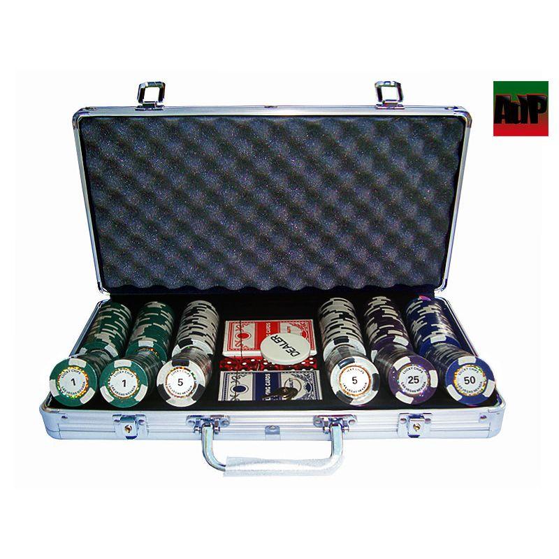 Maletín de poker de 300 fichas Clay tipo King´s Casino
