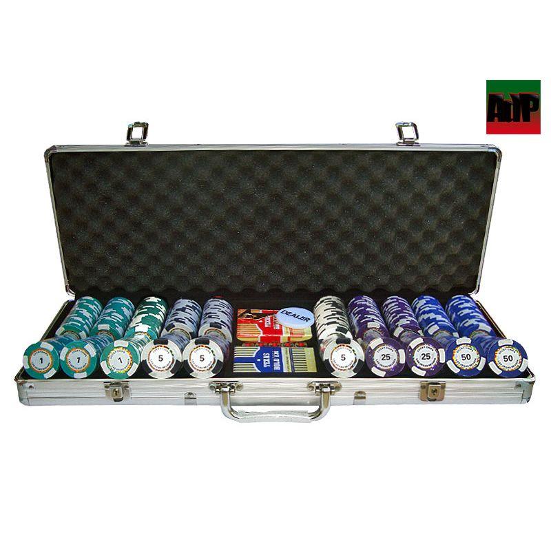 Maletín de poker de 500 fichas Clay tipo King´s Casino